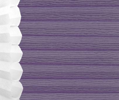 Wabenplissee Isabella lila lichtdurchlässig/blickdicht, Sicht-/Sonnenschutz isolierend PG2