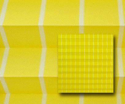 Plissee Rollo SALE% so günstig, gelb, lichtdurchlässig blickdicht, Sichtschutz, Linien Muster PG0