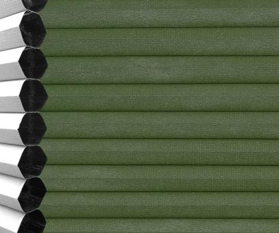 Wabenplissee Vanessa grün Verdunkelung Wärme-/Hitzeschutz isolierend PG3