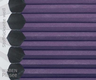 Wabenplissee Vanessa lila Verdunkelung, Wärme-/Hitzeschutz, isolierend, PG4
