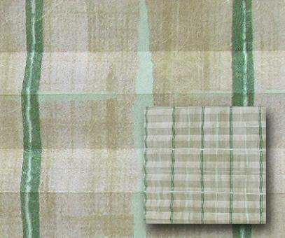 Plissee Loretta grün blickdicht/Sichtschutz/Dekoration Dekorstoff. Linien Design, PG2