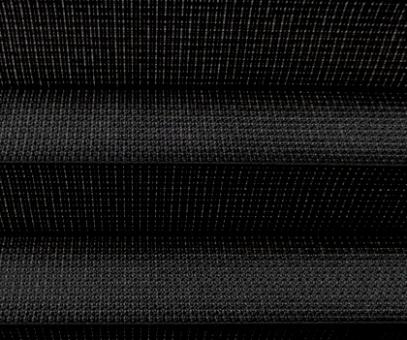 Plissee Loretta schwarz transparent durchsichtig/Dekoration, Trevira CS, schwerentflammbar PG1