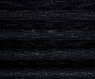 Plissee Loretta schwarz transparent durchsichtig Dekoration Trevira CS PG1