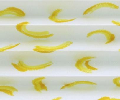 Plissee Rollo SALE% so günstig, gelb/weiß, lichtdurchlässig blickdicht, Sichtschutz, Stoff mit Muster PG0