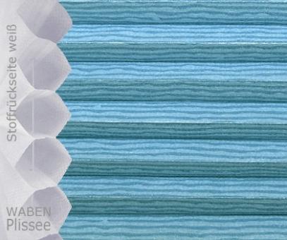 Wabenplissee Muster, Isabella blau licht- durchlässig/blickdicht, Sicht-/ Sonnenschutz, isolierend, PG2