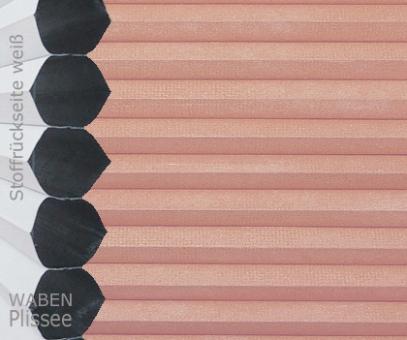 Wabenplissee Donata rosa Verdunkelung, Wärme-/Hitzeschutz, isolierend, PG3