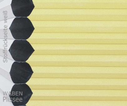 Wabenplissee Vanessa gelbbeige Verdunkelung, Wärme-/Hitzeschutz, isolierend, PG4