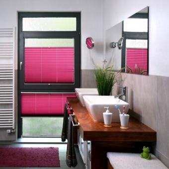 Plissee im Bad perfekter Sichtschutz