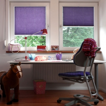 Jugendzimmer Fensterplissee